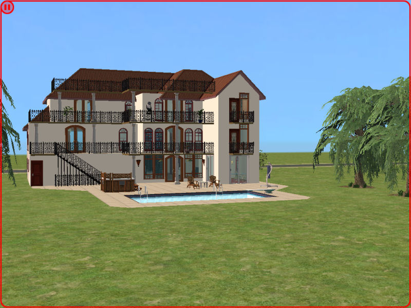 Mod The Sims Basegame Italian Villa On 4x4 Lot 167k