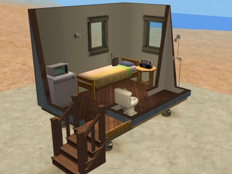 Mod the sims beach hut series for Beach hut plans