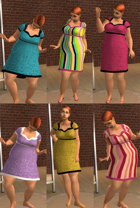 MTS saramkirk 320474 martaxl TeenBBW Dresses Mod The Sims   Recolors of martaxl's Teen BBW meshes.