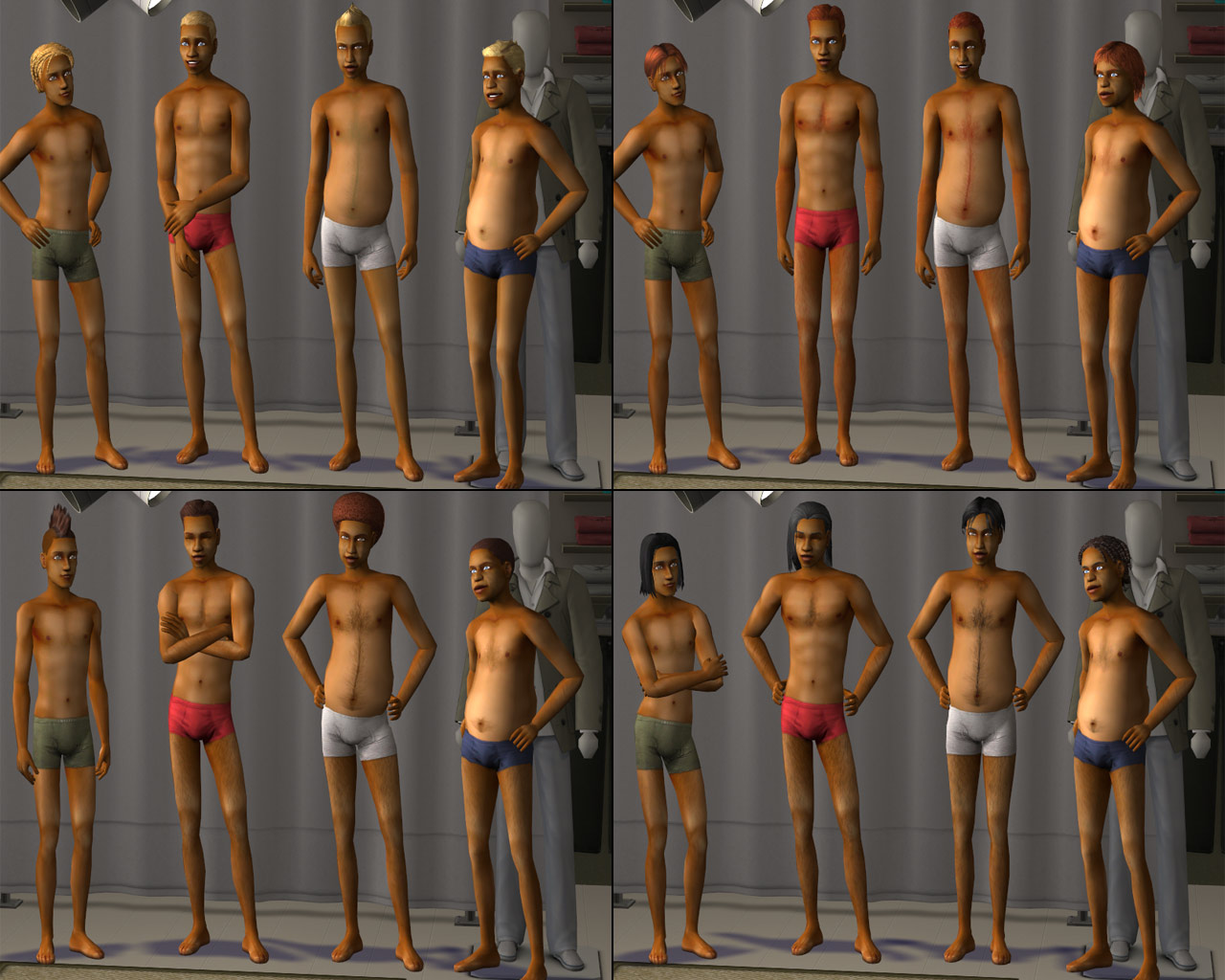 Mod The Sims - Correlated Skins *5 Year Creator Anniversary*