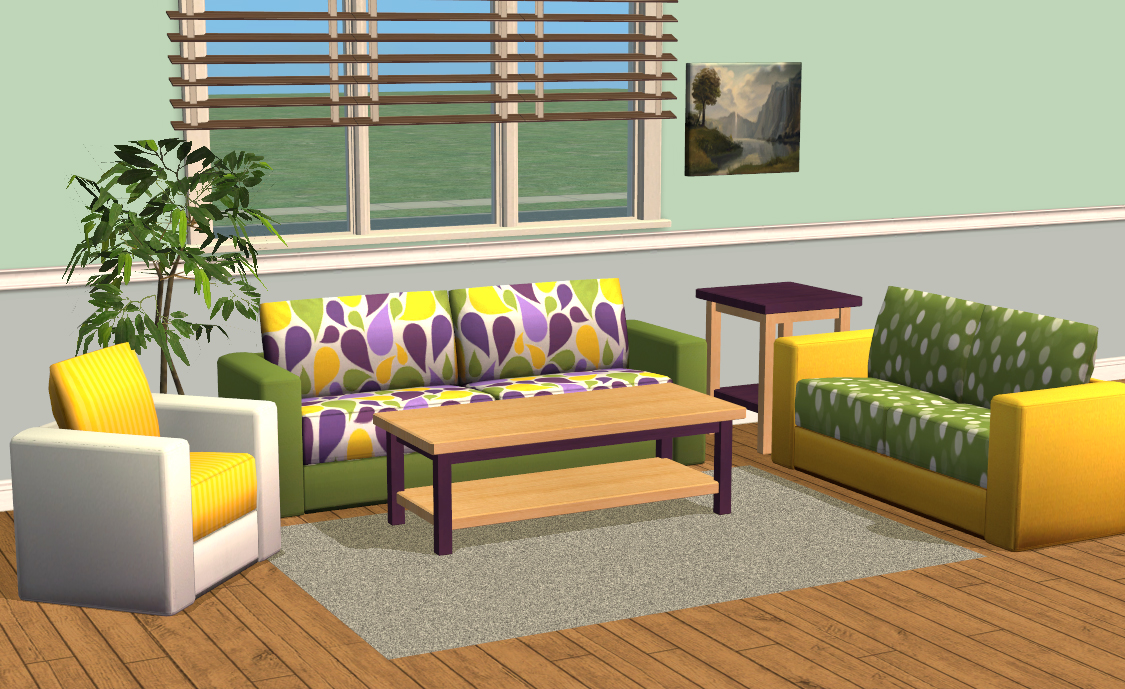 Mod The Sims Smallhouse Models Living Room Set