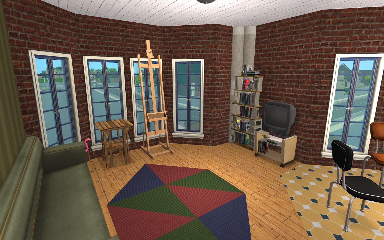 Mod the sims the rhodes building w garden lot no cc for Garden room 2x3