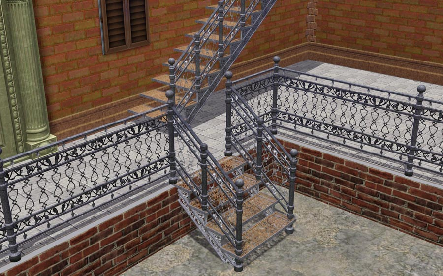 Charming I Have No Cast Iron Staircase That Was In Sims1 And Sims2 And Was Therefore  Forced To Make One Myrself. Unfortunately I Can Not Make A Spiral Staircase  ...