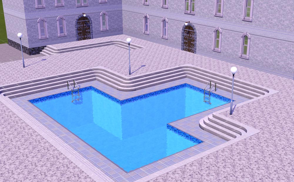 Mod the sims modular stairs corners for Pool design sims 3