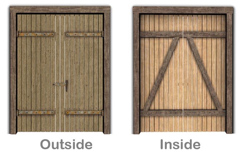 Mod The Sims Simple Barn Door 2x1