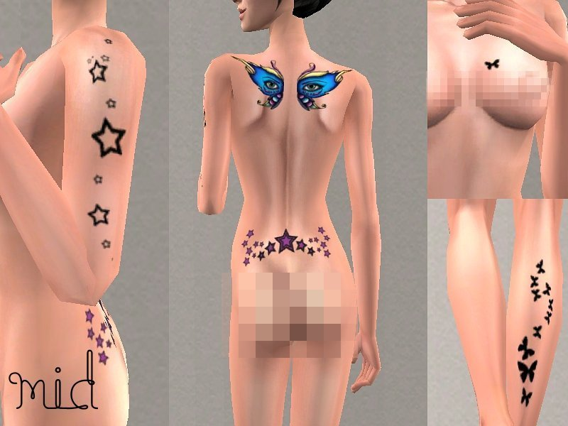 Mod The Sims - ~Tattooed Skin~ For Both Genders