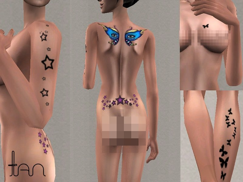 The nipple + tattoo + exposed upper thigh. Mod The Sims - ~Tattooed Skin~ For Both Genders