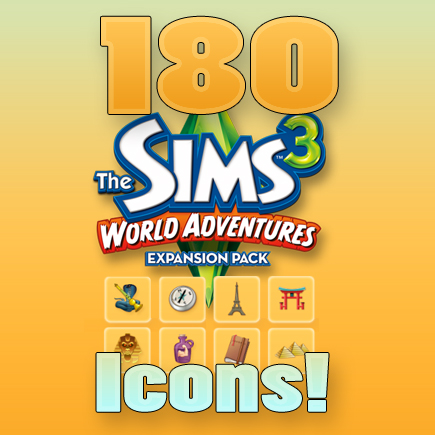 mod the sims 180 sims 3 world adventures icons