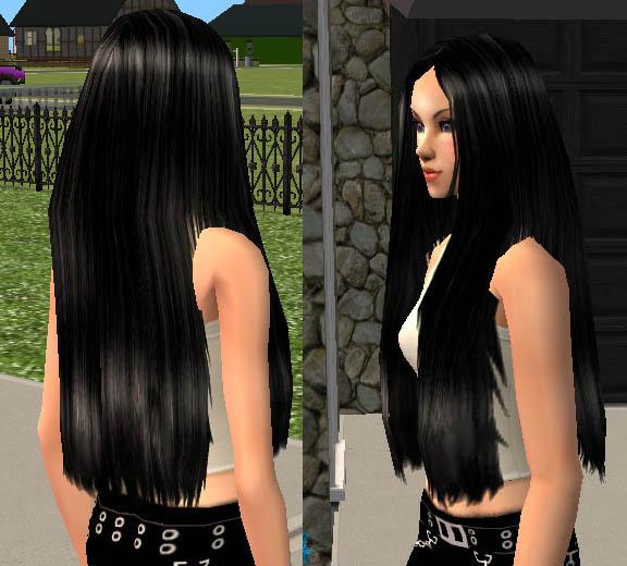 Sims 2 Hairstyles: Plickas Long Female Hair