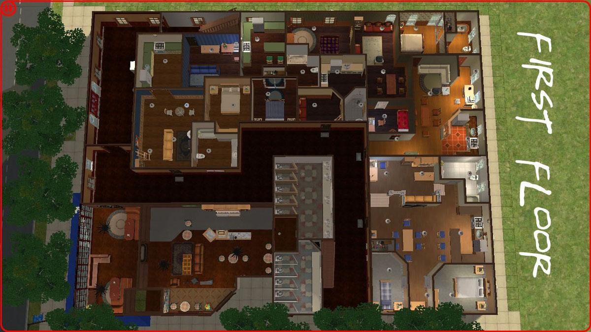 Mod The Sims - Friends Apartments. 18 Apartment Units.