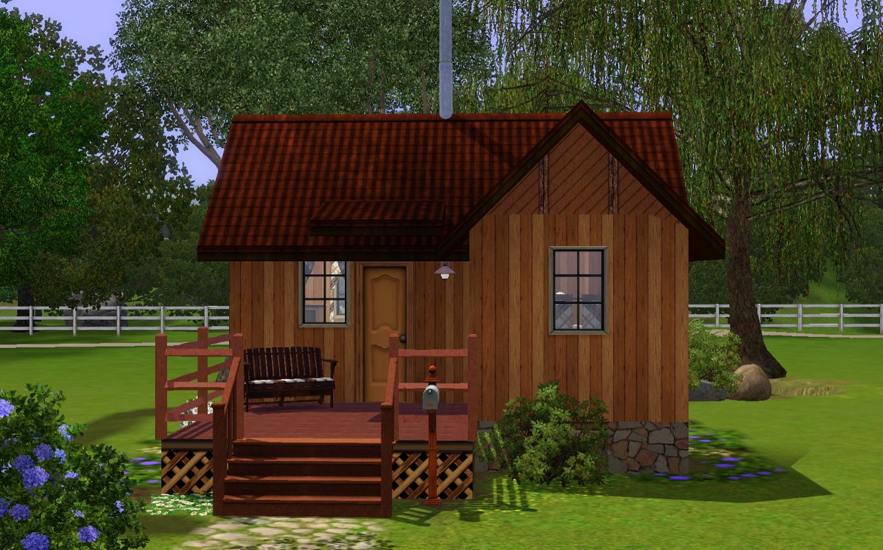 Mod the sims yukon starter cabin no cc for Homes built on your land with no money down
