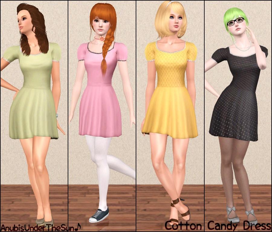 Женская повседневная одежда. MTS2_Anubis360_1202709_CottonCandyDress_2