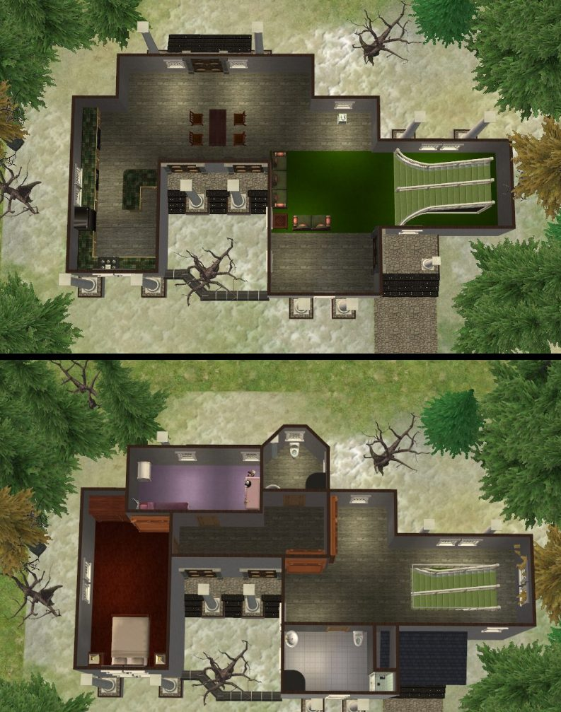 how to create a basement on foundation in sims 3