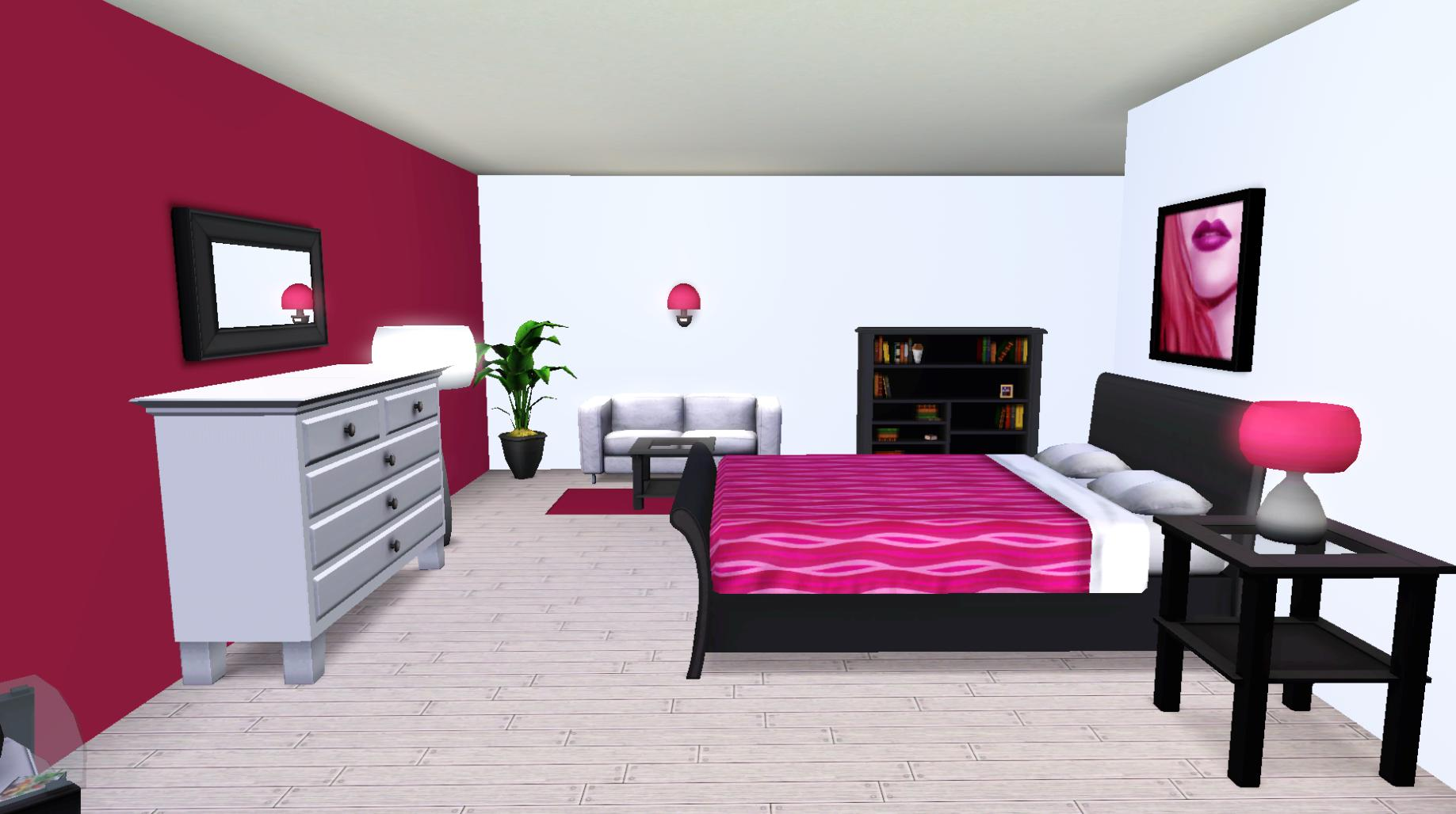 Mod the sims tiny tango 10x10 starter basegame no cc for 10x10 master bedroom
