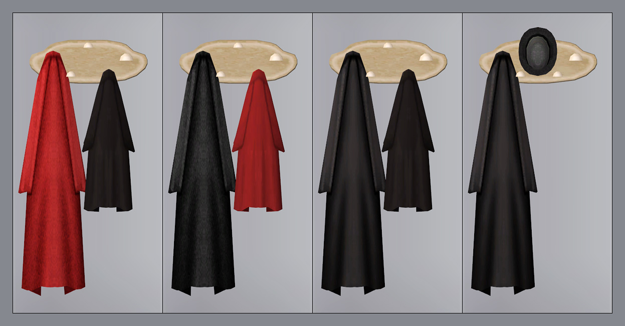 Mod The Sims Coats For Your Wall New Coats Racks For