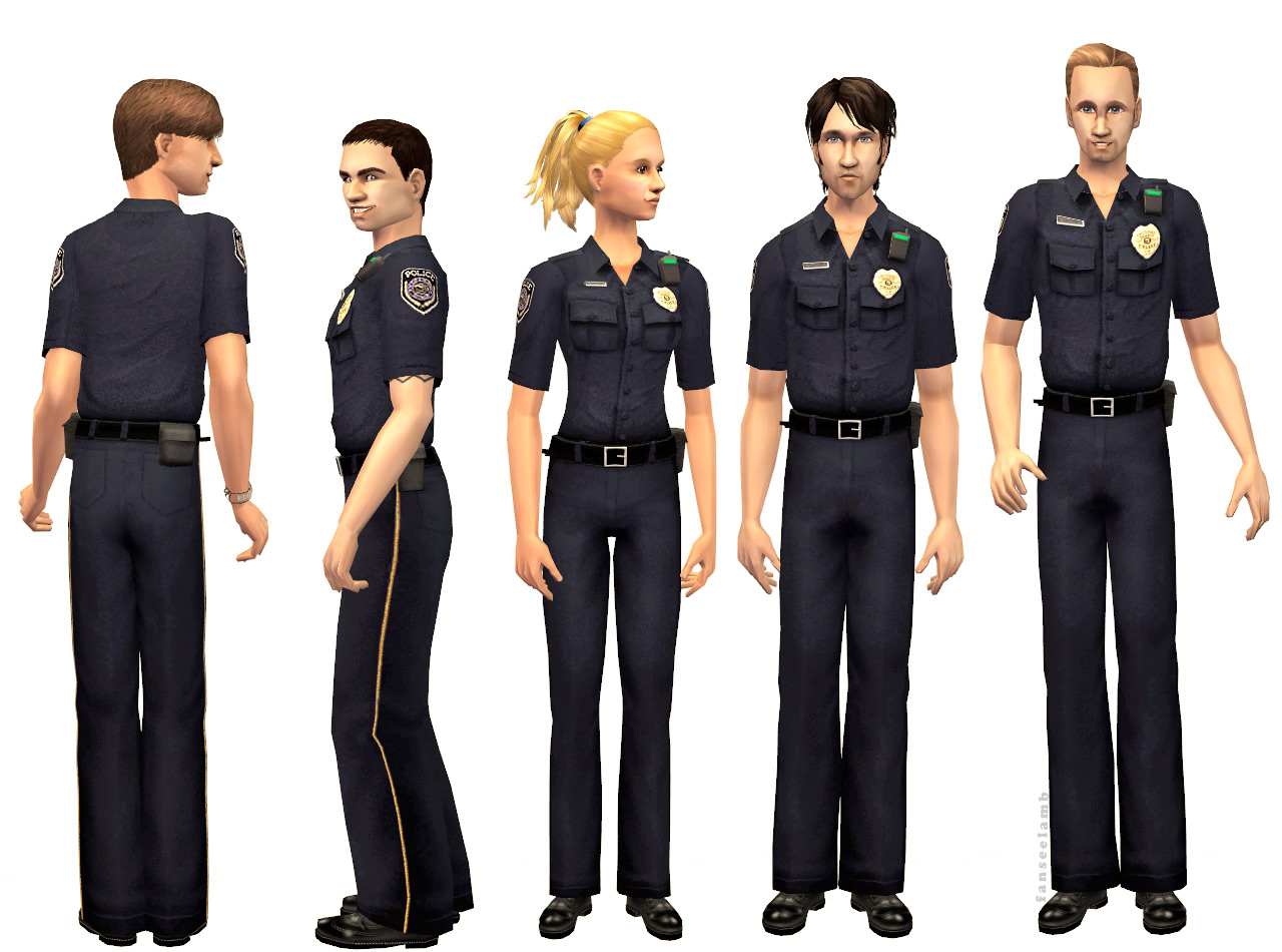Mod The Sims - There's a New Cop (Uniform) in Town - photo#28