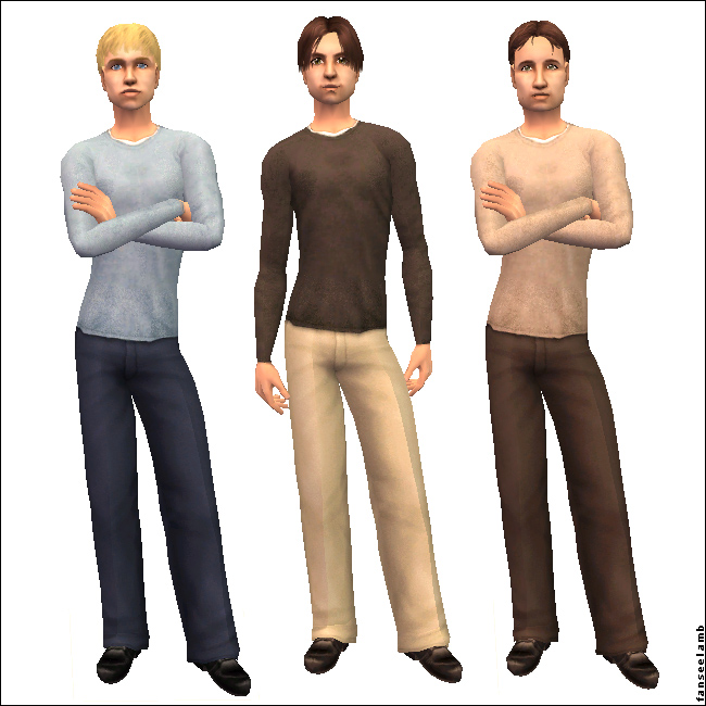 Mod The Sims Untucked Dress Pants 7 Colours 2 Styles