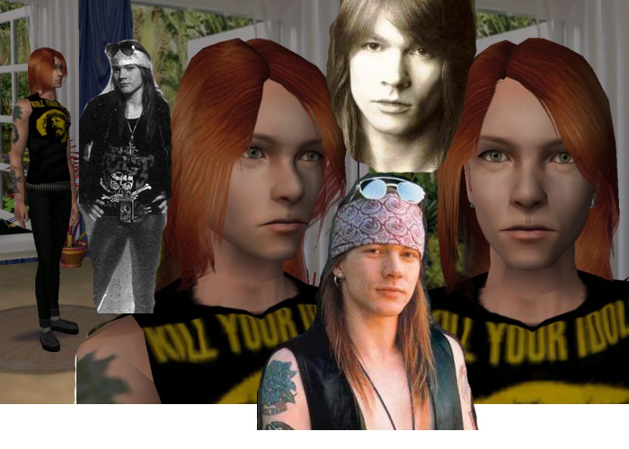 Mod The Sims - Axl Rose, version 2