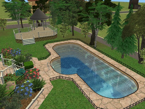 Mod the sims riverblossom manor for Pool design names