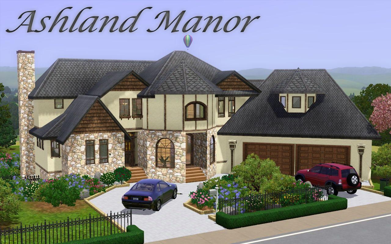 Mod the sims ashland manor modern mock tudor for The best house