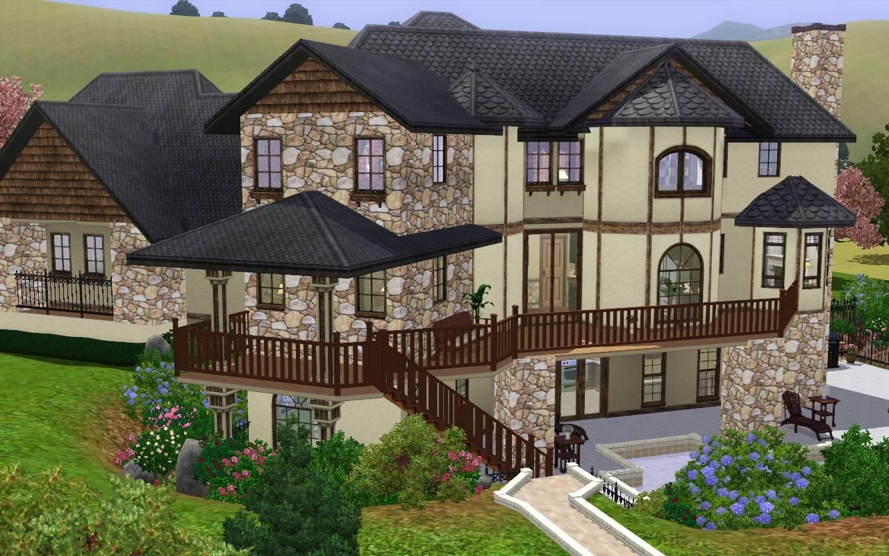 Mod the sims ashland manor modern mock tudor for Sims 3 home design ideas