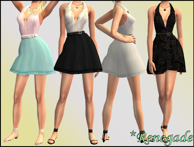 50s pin up clothing. Mod The Sims - RenegadeSims Belted Dresses - Pin-Up (50's) Style