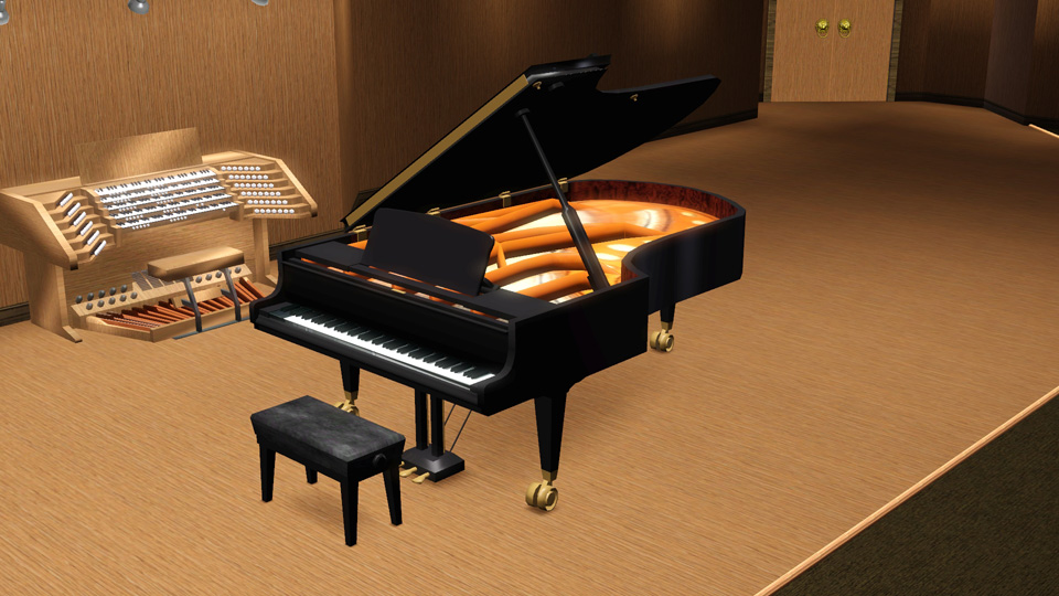 Mod the sims b senklavier concert grand piano updated for How much space does a baby grand piano need