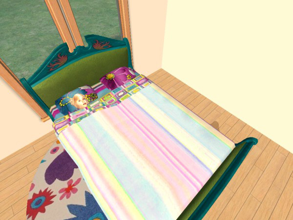 Mod The Sims - Candy Stripe Bright Bedding