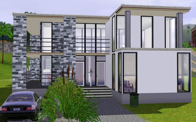 Mod the sims small modern beach house for Beach house designs for sims 3
