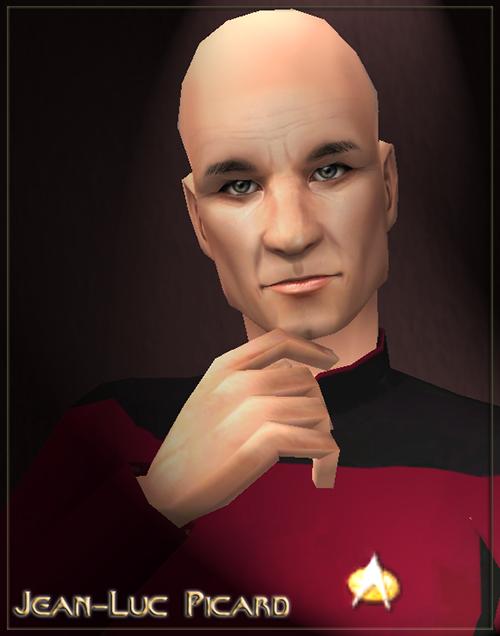 Mod The Sims - ST: TNG - Patrick Stewart as Jean-Luc PICARD