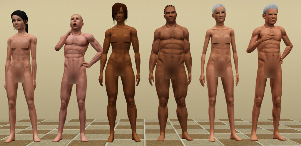 Mod The Sims - Muscle Slider Fix for Naked Teens and Elders - Updated 09/01