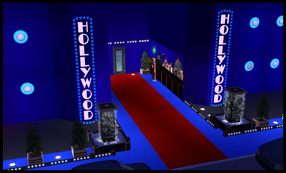 Hollywood lights border hollywood lights