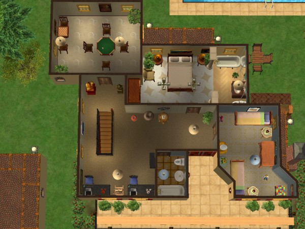 Mod the sims casa de rosas fully furnished no custom for Case the sims 3 arredate