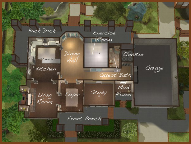 the best 100+ house layout for sims 3 image collections (www.k5k
