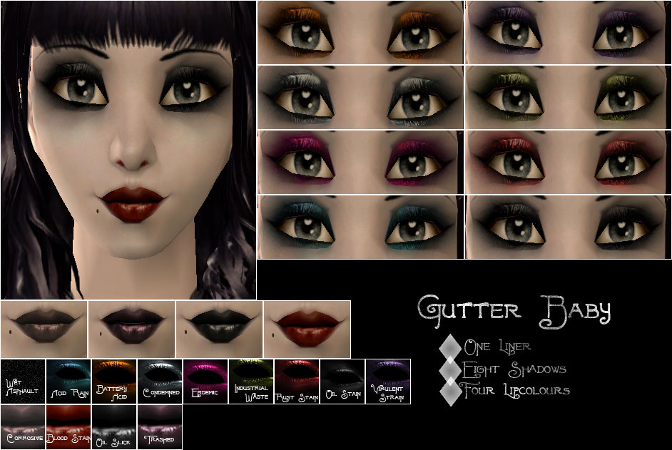 Gutter Baby Gothic Makeup Line