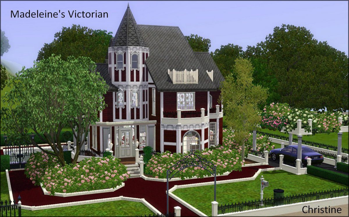 Mod the sims madeleine 39 s victorian for Custom built victorian homes
