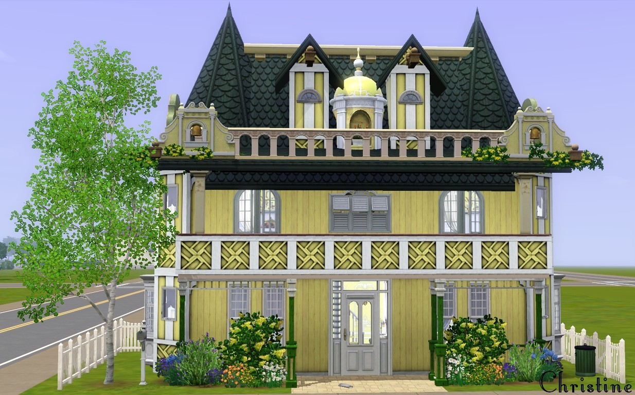 Mod the sims sunset springs victorian cottage no for Custom victorian homes