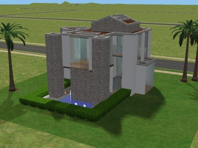 Mod the sims modern dream home for Modern house sushi 9 deler sett
