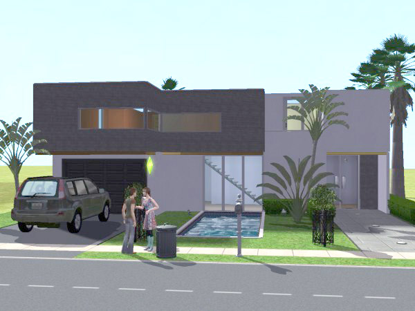 Mod the sims casa minimal minimalist house still d for Minimalist house sims 2