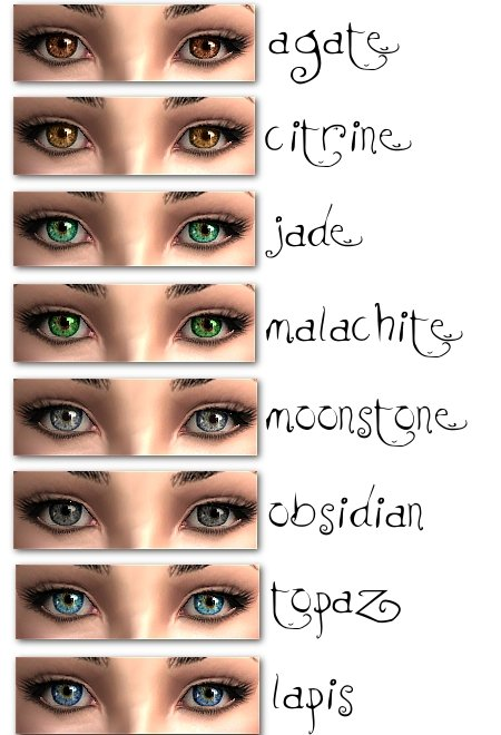 Mod The Sims Defaults Of Mystic Eyes By Hrekkjavaka