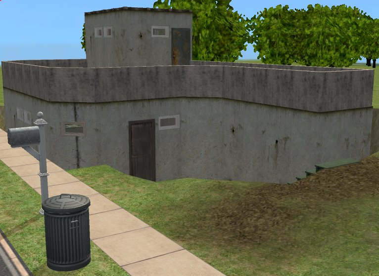 mod the sims just a little bunker house