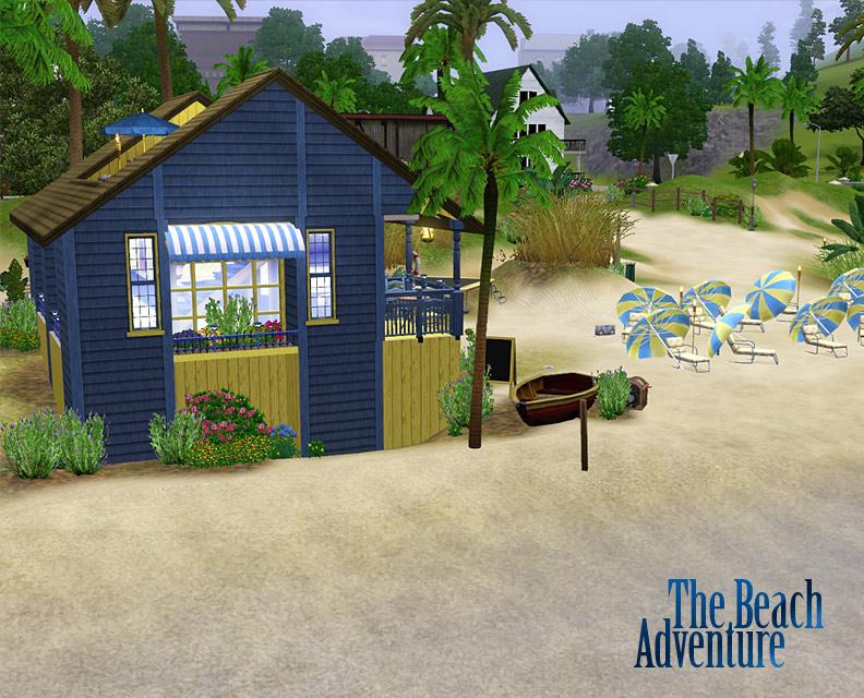 mod the sims the beach adventure community lot. Black Bedroom Furniture Sets. Home Design Ideas