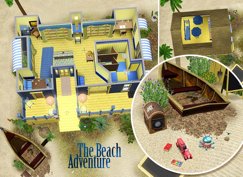 mod the sims the beach adventure community lot