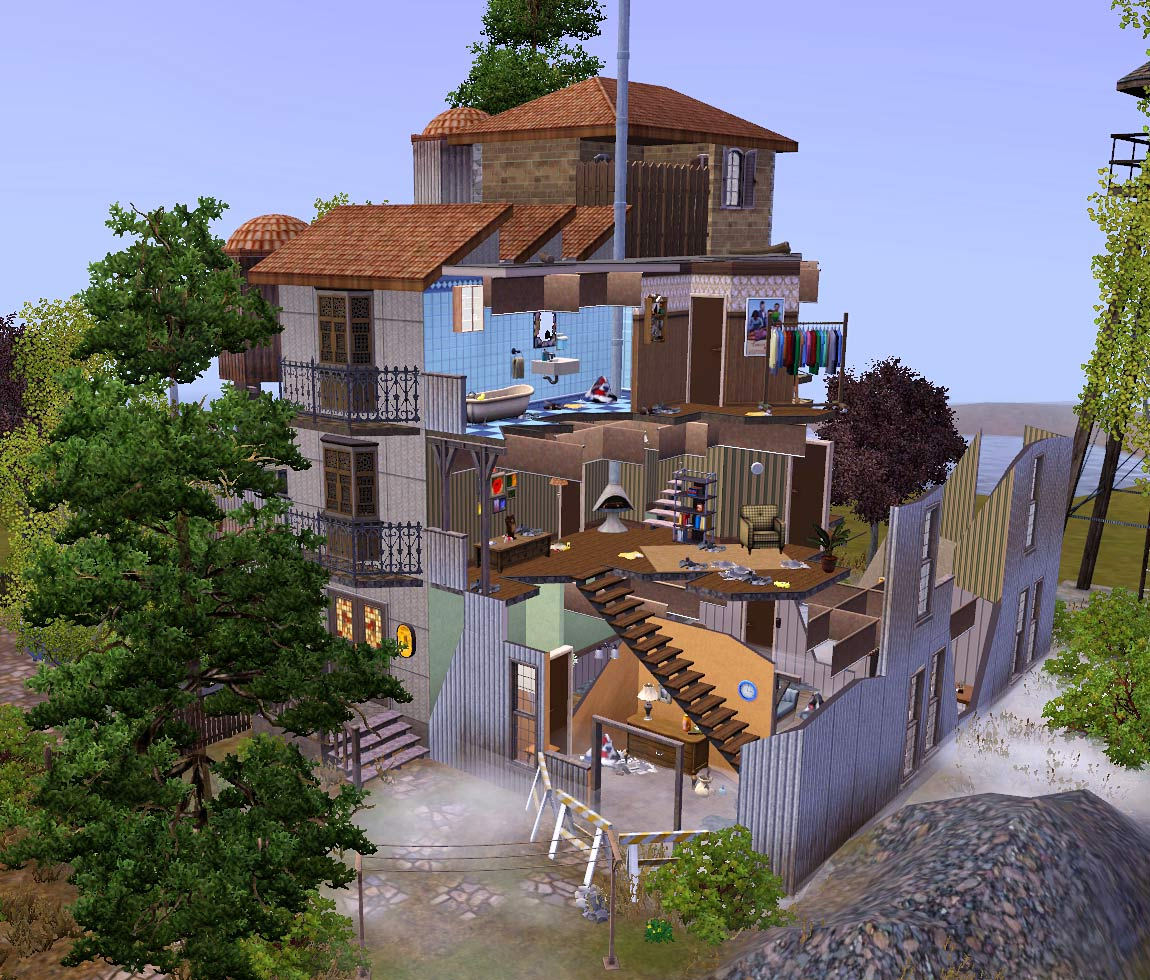 Mod the sims the destroyed building Custom build a house online