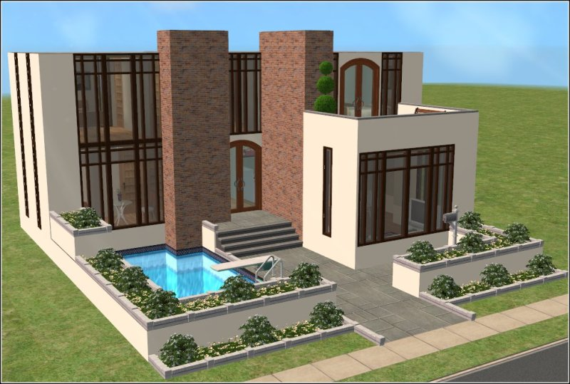 Ideas para casas modernas para los sims3 taringa for Sims 2 mansiones y jardines