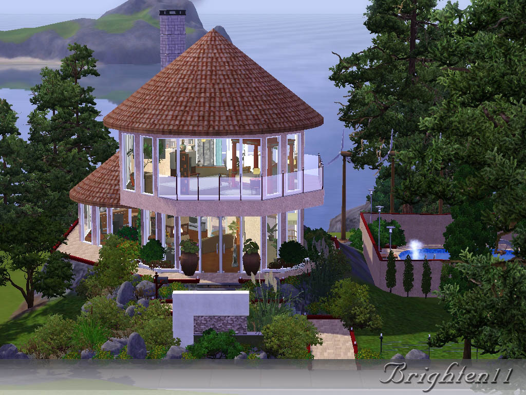 Mod the sims boho eco friendly house for Best house designs sims 3