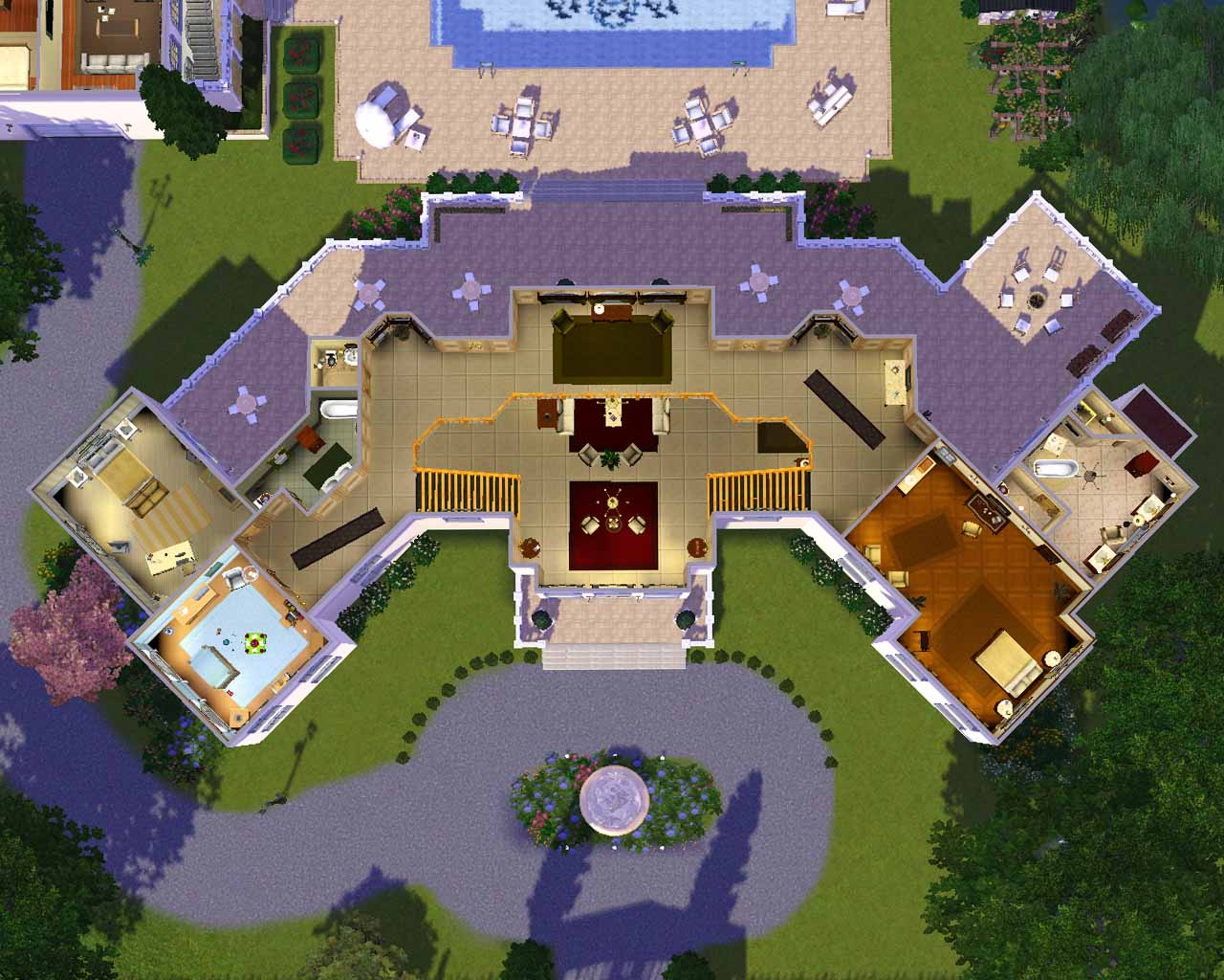Sims 3 Modern Mansion Floor Plans: 27 Sims 3 Floorplans Ideas - Building Plans Online