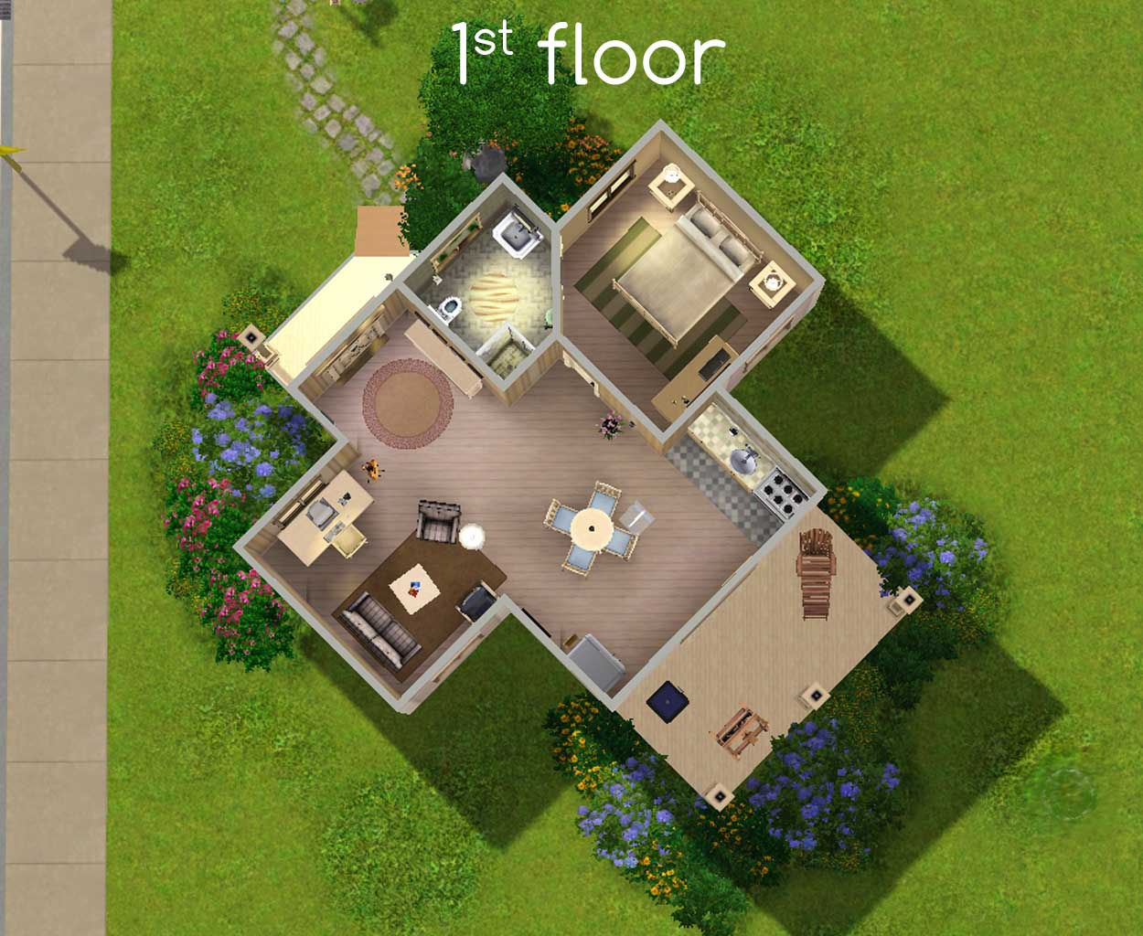 Mod the sims water lily starter for 180 water street 17th floor