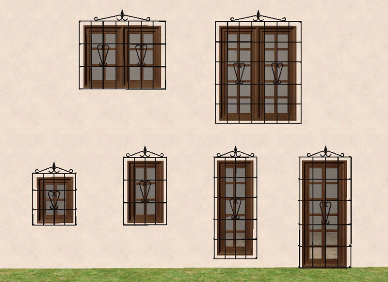 Mod the sims torrox spanish southwestern build set part for Door in spanish
