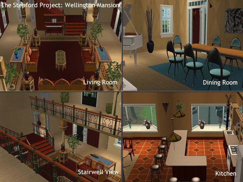 Mod the sims the stepford project i 2 mansions by d d i for Sims 3 dining room ideas